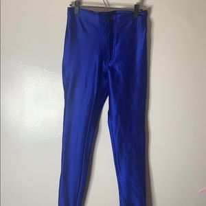 American Apparel Royal Blue Stretchy Disco Pants
